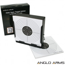 Anglo Arms 14cm Square Target Holder, Catcher + 10 Targets