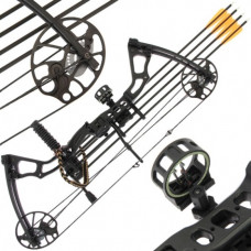 15lb to 70lb Draw Black Chikara Archery Compound Bow Set