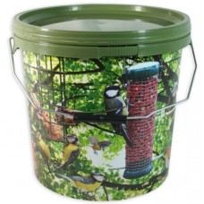 15 Litre Camo Bird Feed Storage or Bait Bucket with Metal Handle