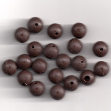 8mm SOFT RUBBER SHOCK BEADS FOR RIGS & STOPS MUD BROWN Pack of 20 approx (made in uk)