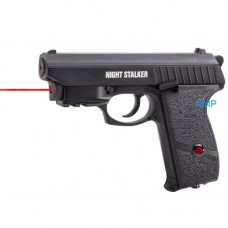 CROSMAN NIGHT STALKER CO2 PISTOL 4.5mm BB .177 BLOWBACK RED LASER SIGHT 18 SHOT