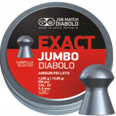 JSB Exact Jumbo Pellets 5.52mm .22 Calibre 15.89 grain Tin of 500