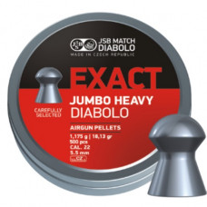 JSB Jumbo Exact Heavy Pellets 5.52mm .22 Calibre 18.13 grain Tin of 500