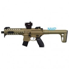 Sig Sauer MPX 30 Shot 88g CO2 Air Rifle FDE .177 Pellet with SIG 20R Red Dot