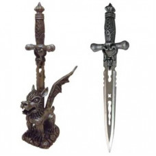Snake Dagger with Simargl Stand (HK03091)