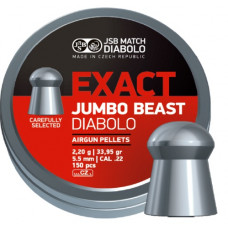 JSB Jumbo Exact Beast Pellets 5.52mm .22 Calibre 33.956 grain Tin of 150