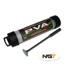 NGT Wide Tube - 7m x 35mm PVA Mesh - With Free Plunger